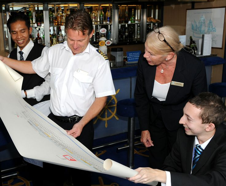 #HarryCotterill presents his #drawing of #BlackWatch to Fred. Olsen #Cruise Lines