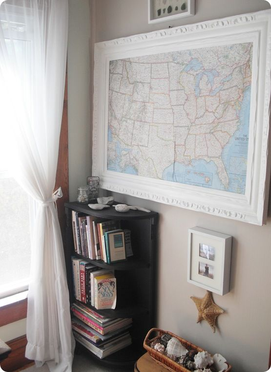 Best Map Frame Ideas On Pinterest Map Art Map Crafts And - Framed us map
