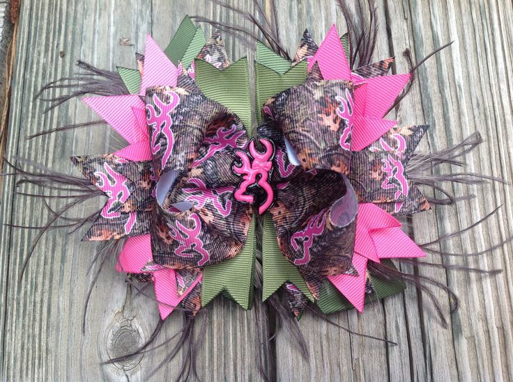 Cammo Browning inspired OTT boutique hair bow by NanaLousBowtique, $8.99