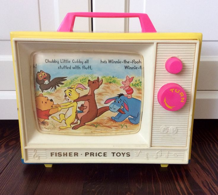 1971 Fisher Price Winnie The Pooh Music Box TV #175, Disney's Winnie The Pooh, Vintage Fisher Price Toys, Animated Music Box, Nursery Decor by Lalecreations on Etsy