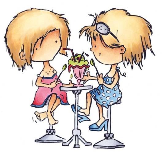 Don & Daisy Clearstamp Eating a sundae DDS3321    Visit the Don & Daisy blog for more inspiration: donendaisy.blogspot.com