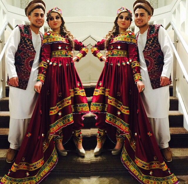 Afghan Wedding Gowns: #Afghan National Clothing #Afghan Style