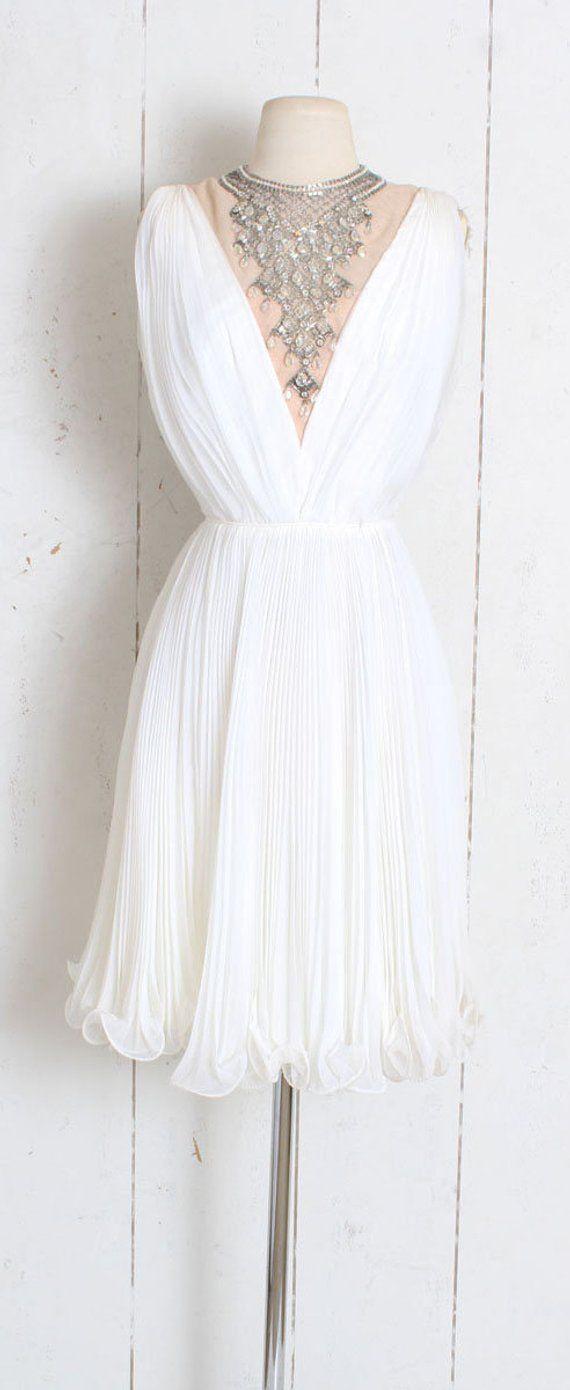 9a5d10ac90a Vintage 1960s Dress vintage 60s Jack Bryan white chiffon
