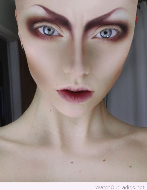 Alien Halloween makeup                                                                                                                                                                                 More
