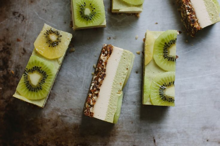Cheesecake kiwi / gingembre.