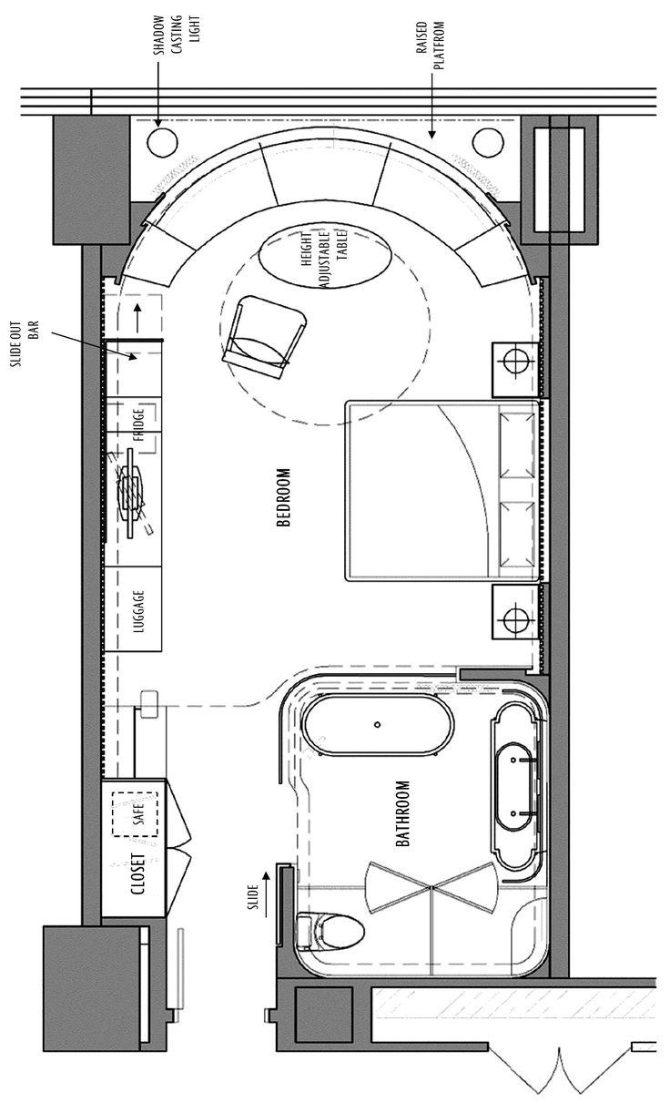 Hotel Room Plan: Best 418.0+ Floorplans Images On Pinterest
