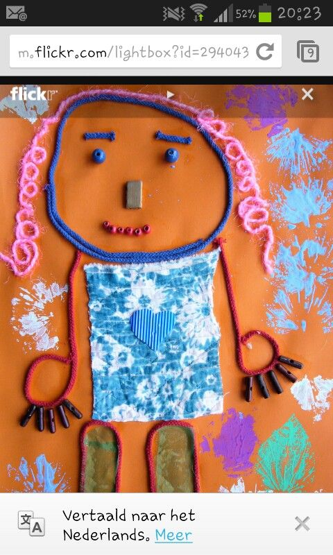 Een pop maken met wol, draad en ander materiaal