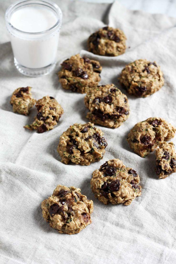 Zucchini Chocolate Chip Cookies Vegan