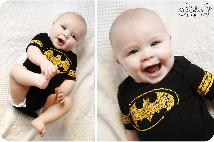 6 month baby pictures - foot grab & big smile: Foot Grab, 6 Month Baby, 6 Months, The Batman, Batman Outfit, Baby Pictures, Big Smile, Picture Ideas