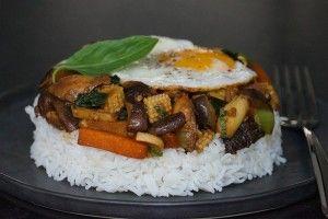 Bol renversé au poulet, cuisine mauricienne