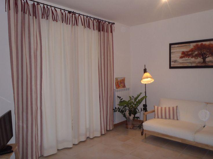 Tenda in misto lino realizzata su misura