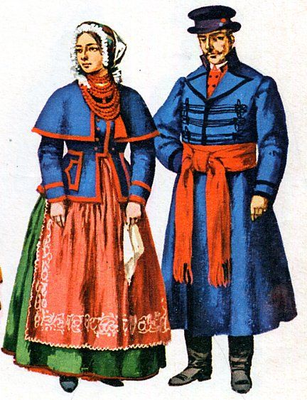 FolkCostume: Costume and Embroidery of Kujawy, Poland