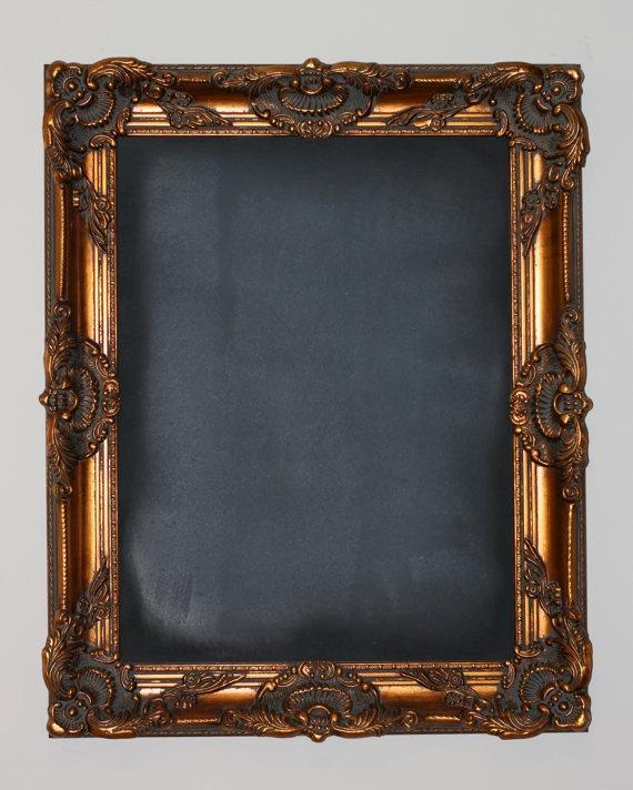 Ornate Gold Framed Chalk Board