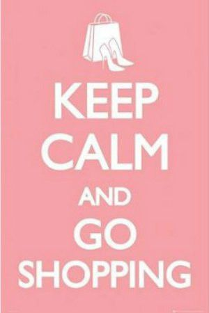 """ISP20030"""" Keep Calm and Go Shopping"""" (24 X 36)"""