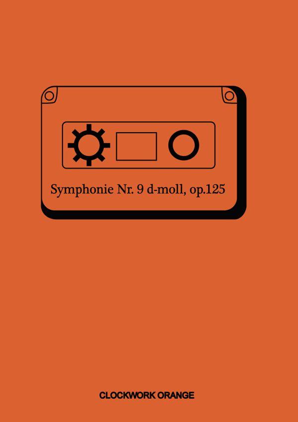 A Clockwork Orange Poster by Vaness Antunes #amusementphile