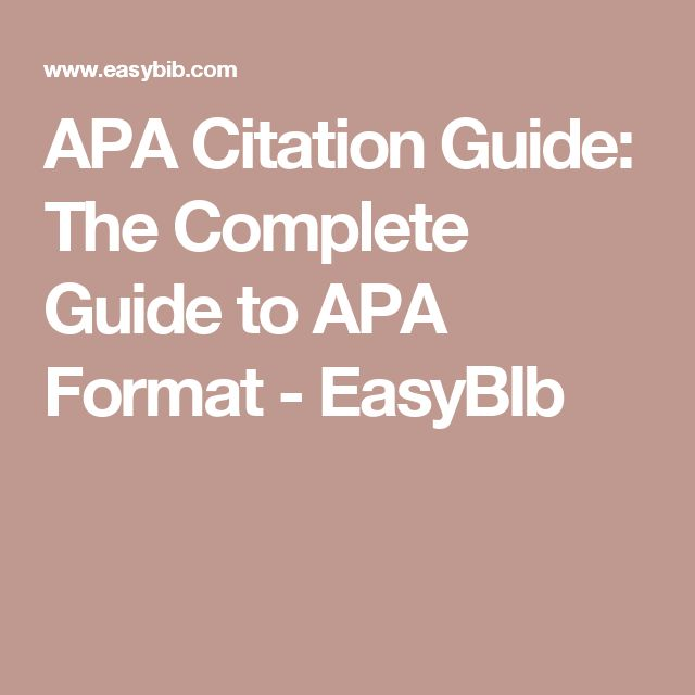 Extrêmement Best 25+ Apa format guide ideas on Pinterest | Apa essay format  VO03