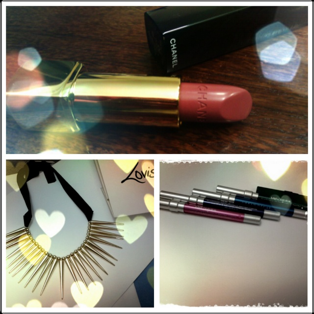 I am loving my spike necklace from Lovisa. In love with my Chanel Allure Rouge lipstick in Silhouette, its just the perfect MLBB shade for me .. so whenever in doubt what to wear, I just dab this on :)    Totally digging these Urban Decay 24/7 glide on colorful eye pencils. They are creamy and glide