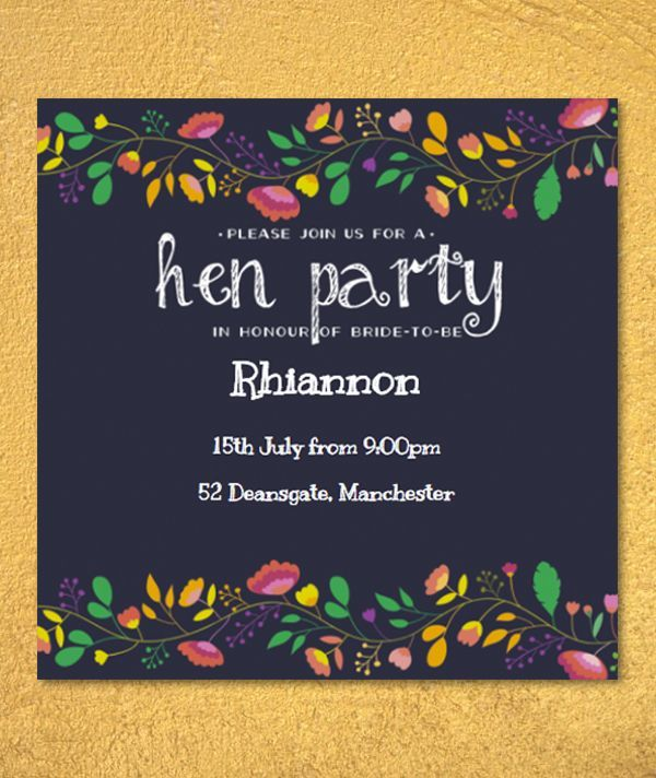 Personalized Hen Party Invitations
