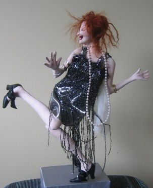 "Dance Like No One is Watching! by Sharon Mitchell  ... This flapper doll is an 18"" wall doll."