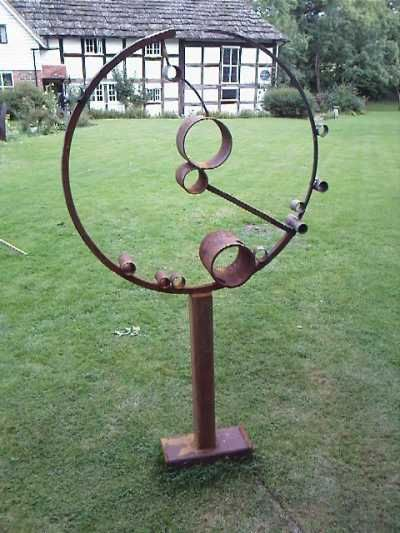 Mild steel Abstract Garden sculpture by artist Zeljko Ivankovic titled: 'A round' £1420 #sculpture #art