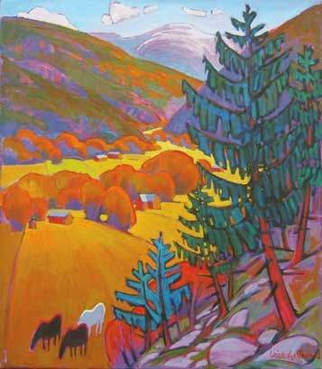 Taos Art Workshops, Artist Leigh Gusterson Landscape Painter