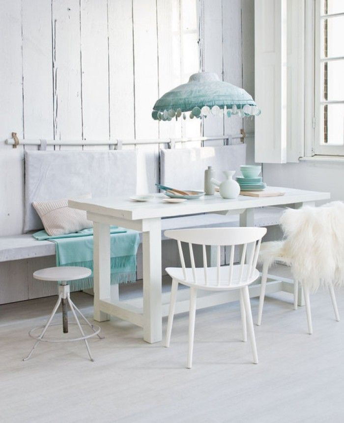 Witte tafel en eetbank maken idee google zoeken eettafel ideee pinterest search - Idee deco eettafel ...