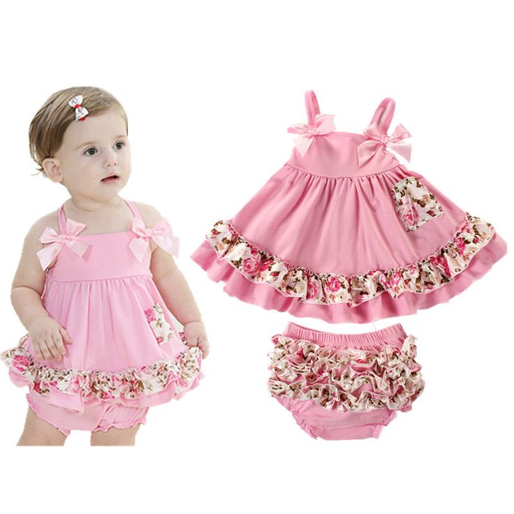 2017 Baby Girl Clothes Summer Newborn Baby Girl Clothing Baby Dress Infant Sling Bat Roupas Body Bebes Next Baby Dress Set