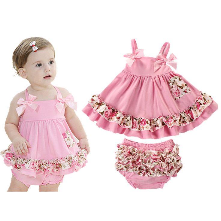 2017 Baby Girl Clothes Summer Newborn Baby Girl Clothing Baby Dress Infant Sling Bat Roupas Body Bebes Next Baby Dress Set