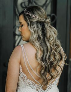 | half-up wedding hairstyles for long hair | curled half-up long wedding hairstyles | brides of north texas | elegant wedding hairstyles | half-up bri...