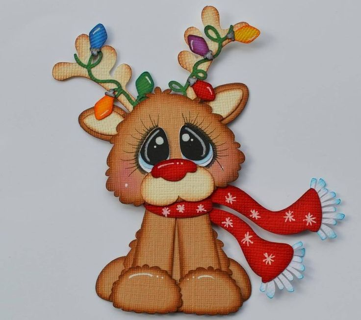 Paper Piecing Rudolph for Premade Scrapbook Page Layout Christmas CrafteCafe
