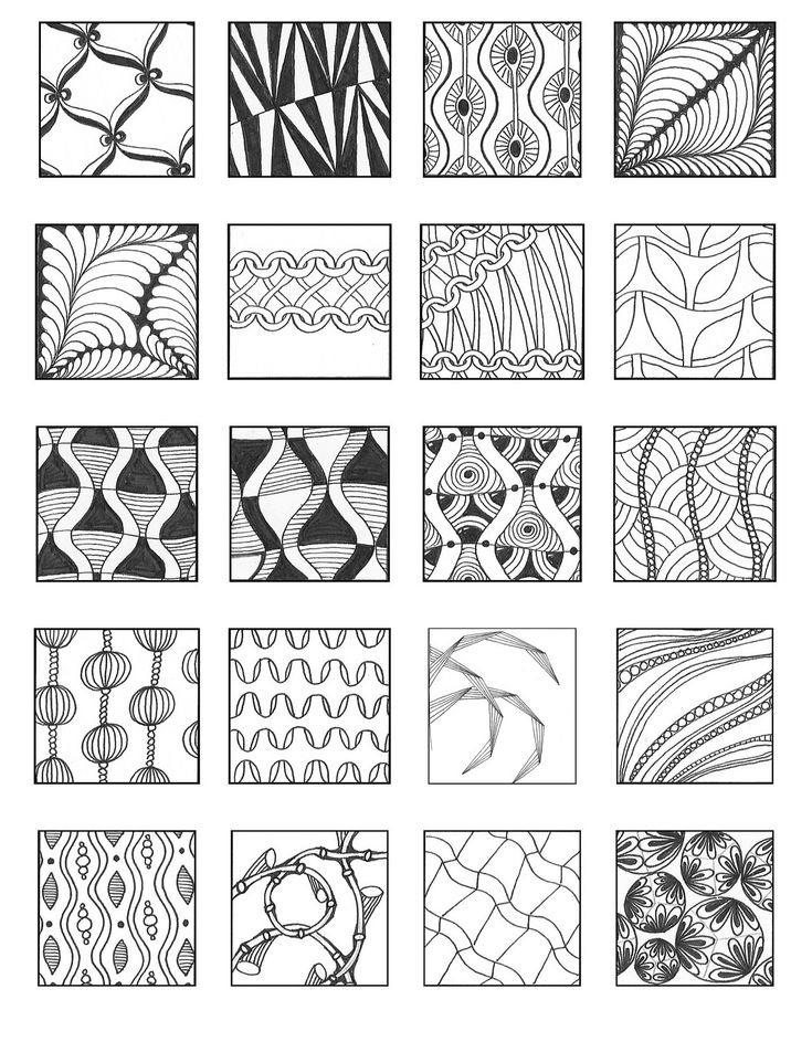 Simple zentangle patterns for beginners for Basic doodle designs