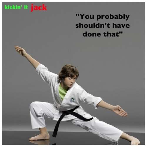 """You probably shouldn't have done that.""  Leo Howard/AKA Jack Brewer's famous catch phrase"