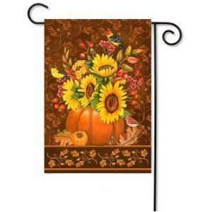 Pumpkin Bouquet- Garden Size 12 Inch X 18 Inch Decorative Flag - by Custom Decor. Save 47 Off!. $8.49. Durable. Garden Size 12 Inch X 18 Inch. Vibrant Color. Exceptional Detail and Design. Matching ompanion Pieces Optional and available. Always a Quality Factory First Run - We never offer a factory second!
