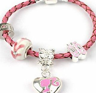 Bling Rocks Childrens Little Miss Pink Silver Barbie/Ballet Shoes Pink Leather Pandora Style Charm/Bead Bracelet No description http://www.comparestoreprices.co.uk/barbie/bling-rocks-childrens-little-miss-pink-silver-barbie-ballet-shoes-pink-leather-pandora-style-charm-bead-bracelet.asp