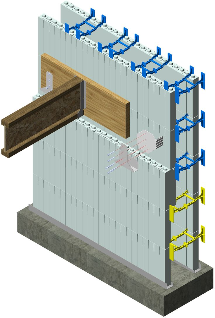 Icf floor ledger attachment simpson icfvl attach ledger for Icf concrete floors