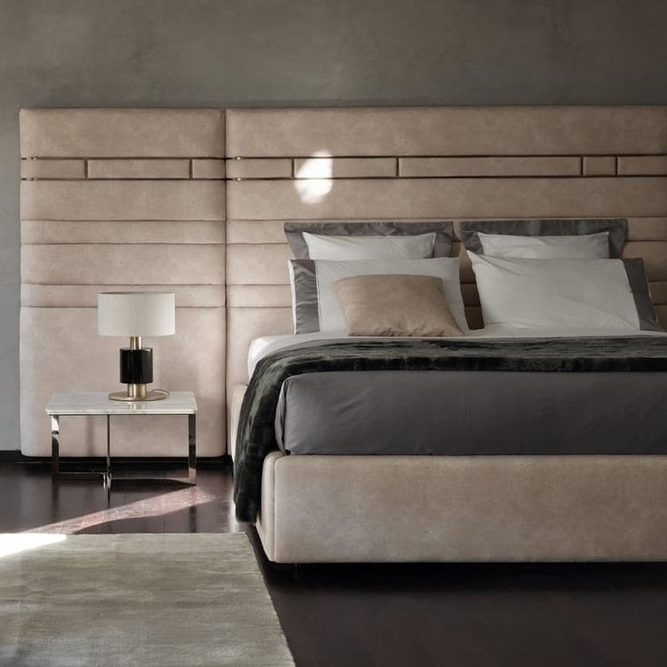 Luxury Designer Italian Bed With Wide Headboard