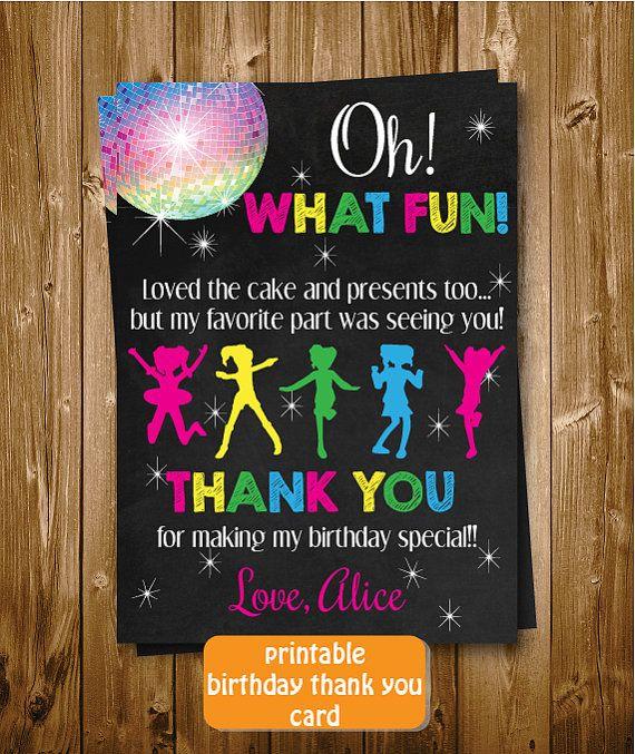 Printable Chalkboard Let's Dance Birthday by RedRedRoseHandmade