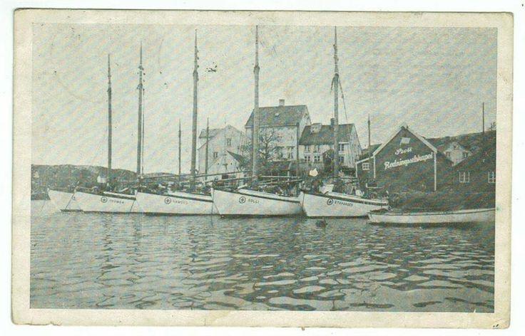 KRISTIANSUND NORSK SELSKAB SKIBBRUNDES REDNING stemplet 1918 Drøbak