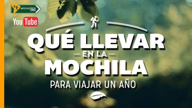 Que llevar en la #mochila para #viajar un año? // What to carry in your #backpack for one year?  Suscribete al canal de Youtube www.mochileros.org/tv  #mochileros #viajes #viajeros