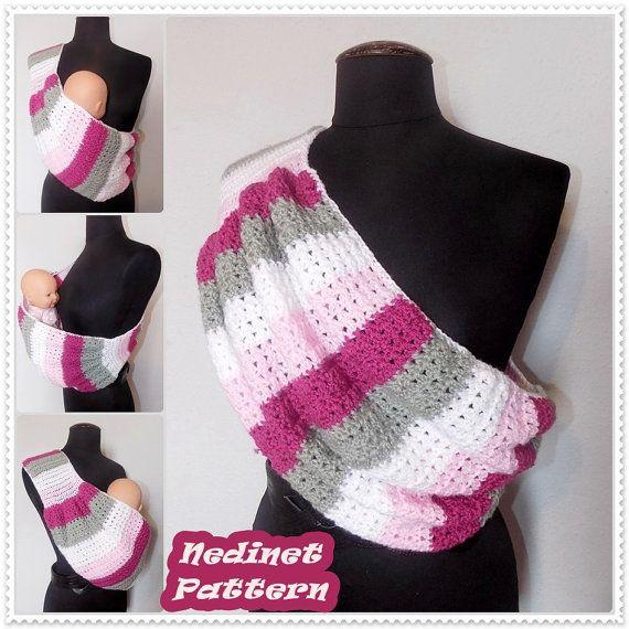 Crochet PATTERN crochet Baby Sling pattern by NedinetPattern