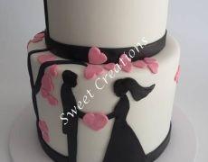 Silhoette wedding cake