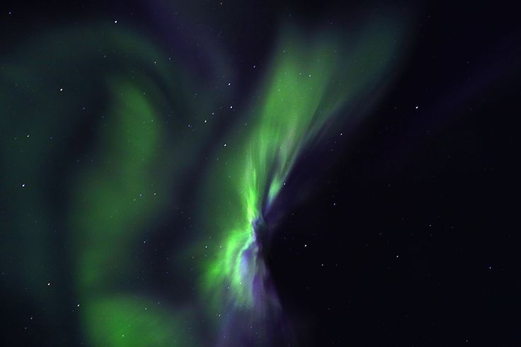 Northern Lights from above the Arctic Circle. Where you have to look up to see them.