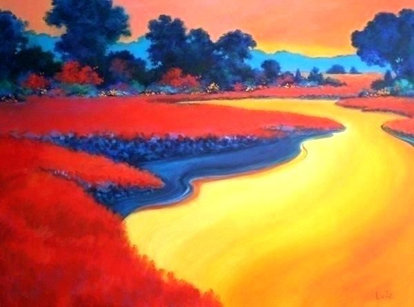 Painting Ideas Easy Step By Step Cool Painting Ideas Cool Paint Simple Acrylic Paintings Landscape Paintings Acrylic Landscape Paintings
