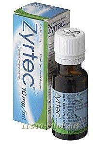 Капли от аллергии Zyrtec 10мг/мл 20мл