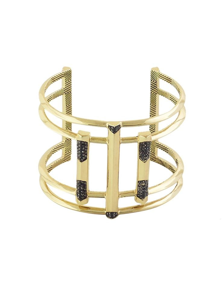 DEFINED DECO CUFF HEMATITE http://www.thedarkhorse.com.au/shopping/CUFFS/DEFINED-DECO-CUFF-HEMATITE---HOUSE-OF-HARLOW