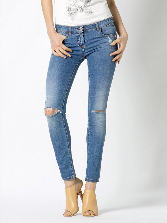 PATRIZIA PEPE - Skinny-Jeans aus Denim mit Löchern