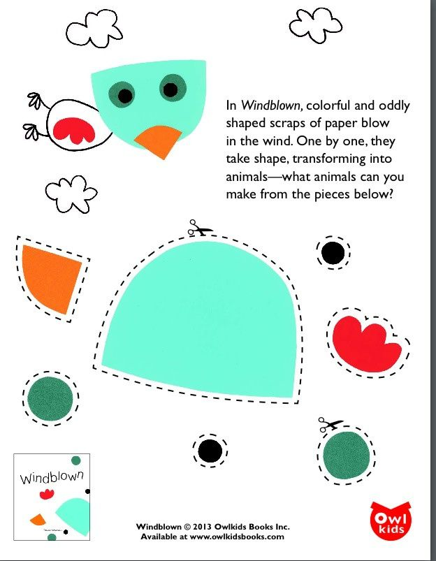 Windblown - print off & create own animals from the shapes