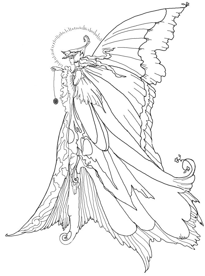 free fairy coloring pages for adults printable coloring book - Coloring Pages Dragons Fairies