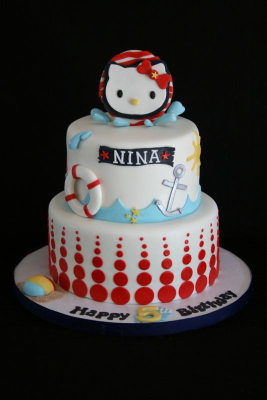 Hello Kitty Nautical Cake