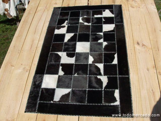 alfombras de cuero con pelo hechas a medida patchwork. Black Bedroom Furniture Sets. Home Design Ideas